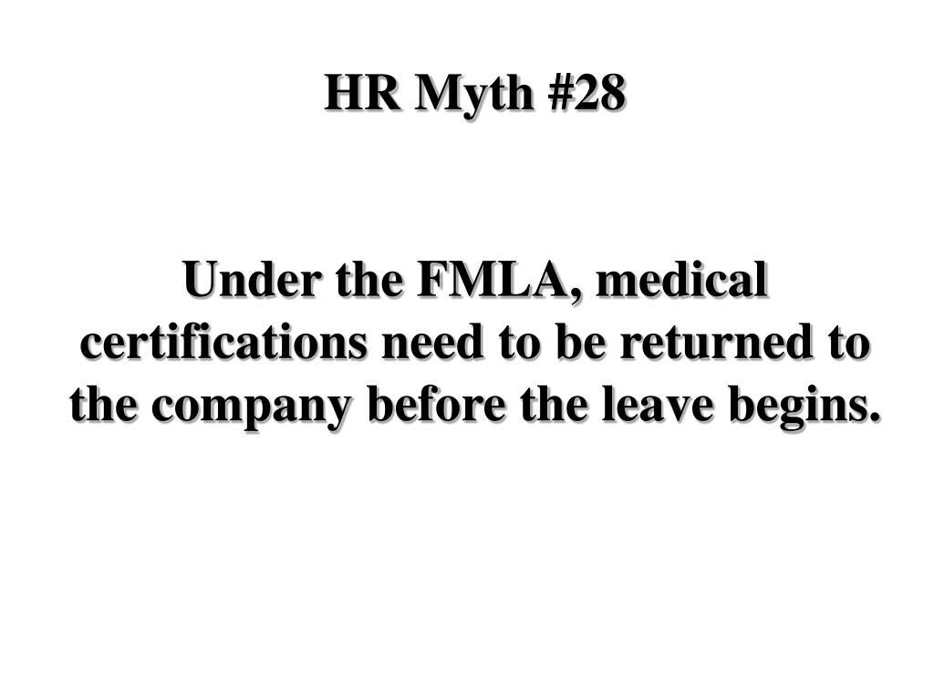 HR Myth #28