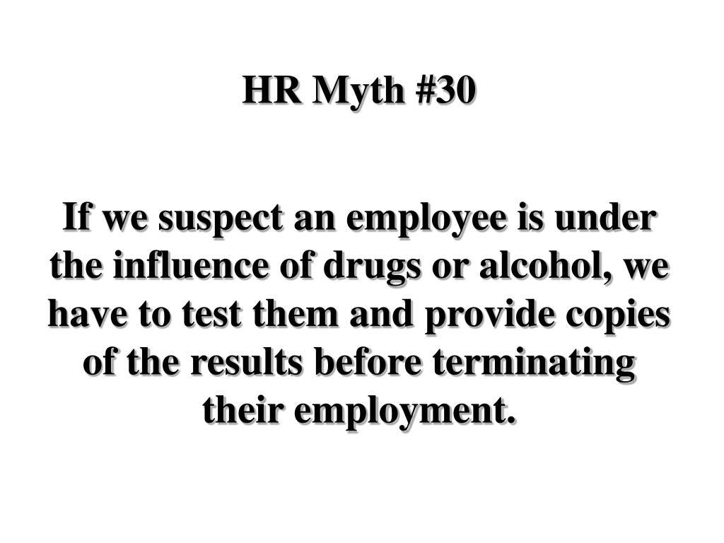 HR Myth #30