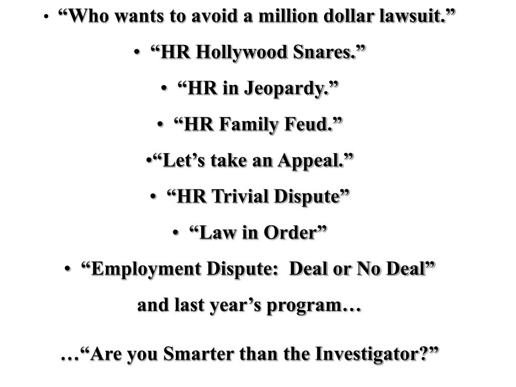 """Who wants to avoid a million dollar lawsuit."""