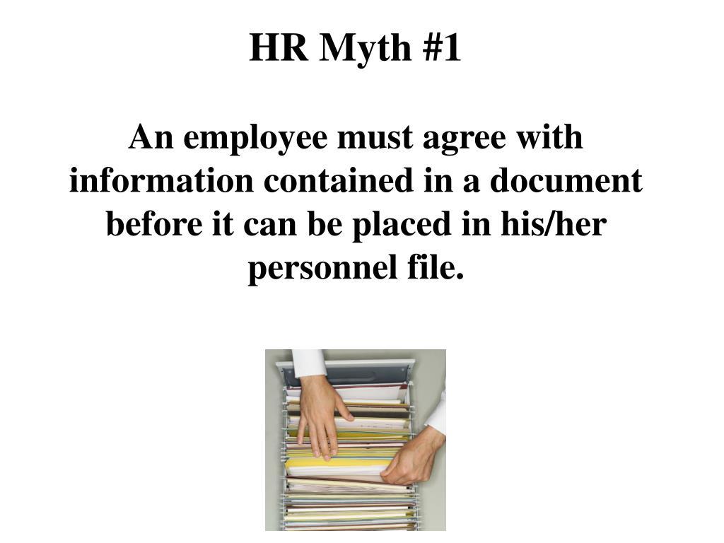 HR Myth #1