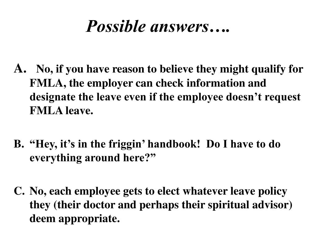 Possible answers….