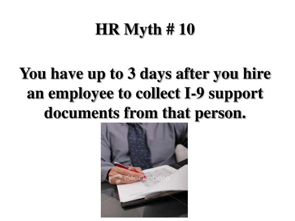 HR Myth # 10