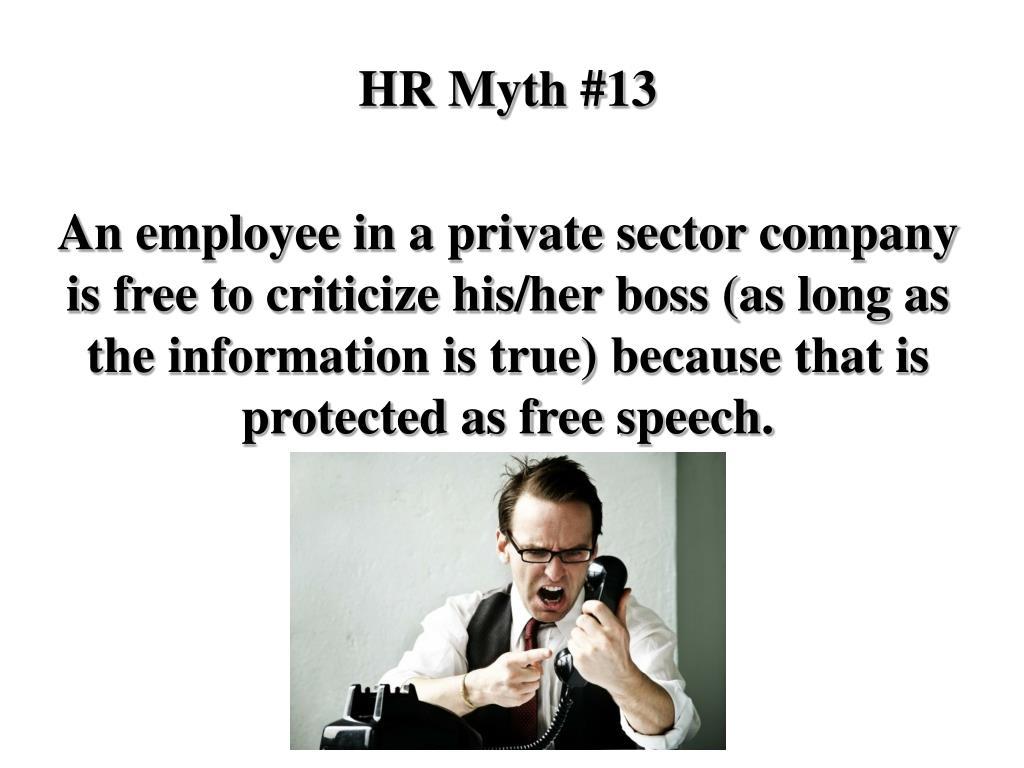 HR Myth #13
