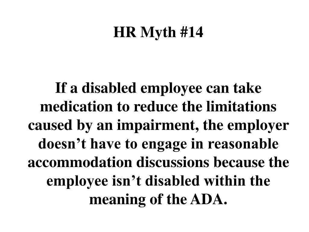HR Myth #14