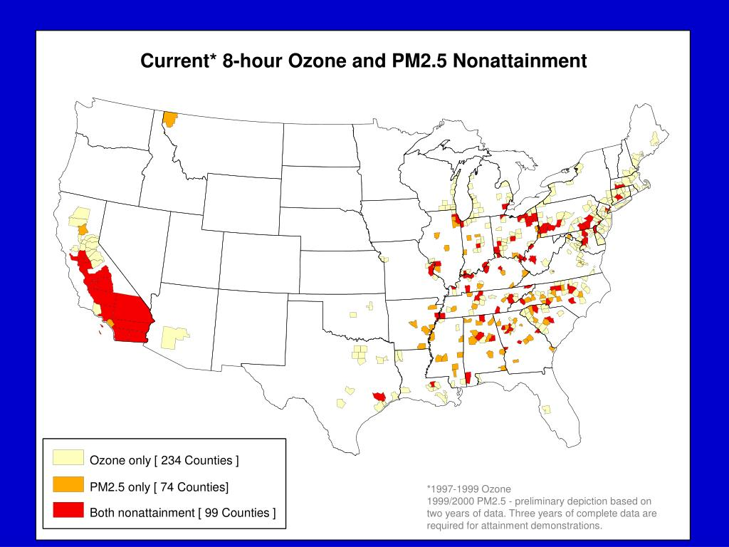 Current* 8-hour Ozone and PM2.5 Nonattainment