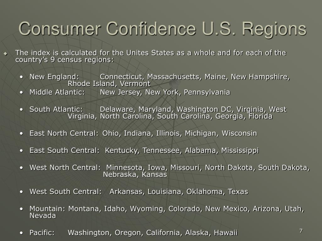 Consumer Confidence U.S. Regions