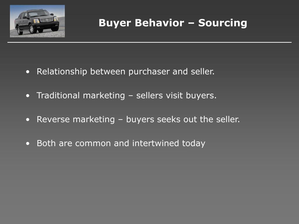 Buyer Behavior – Sourcing