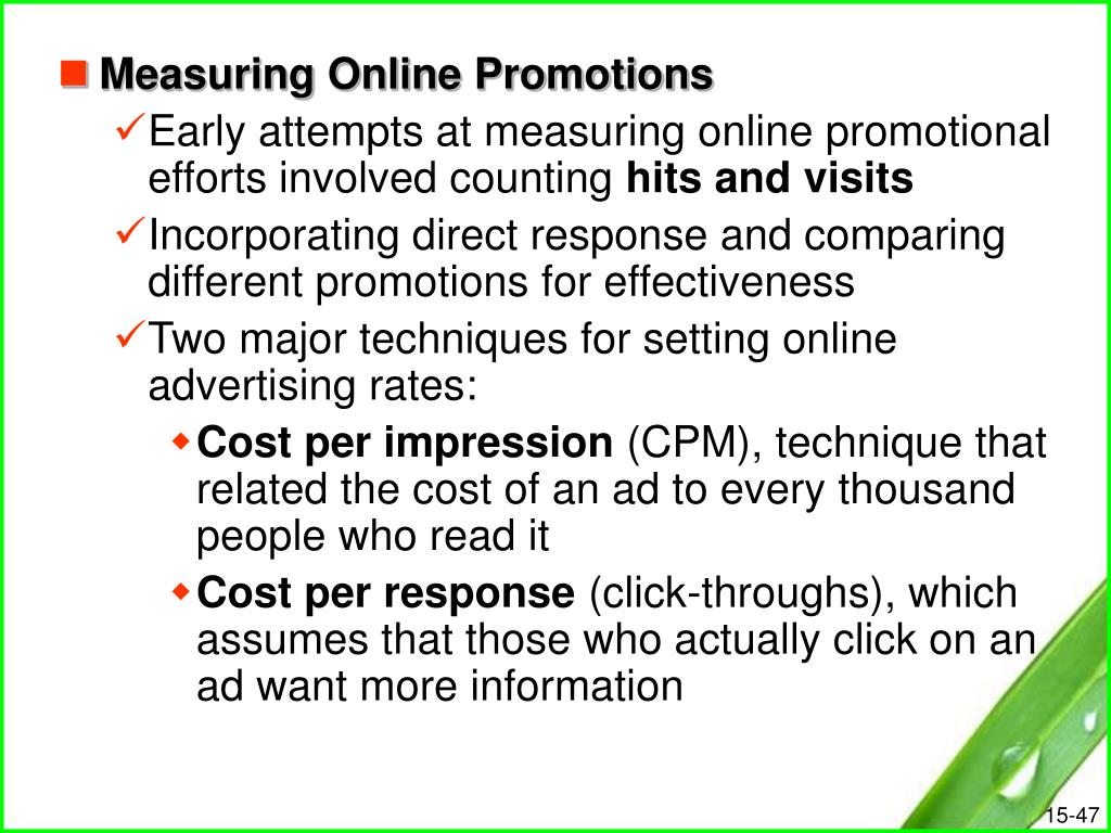 Measuring Online Promotions