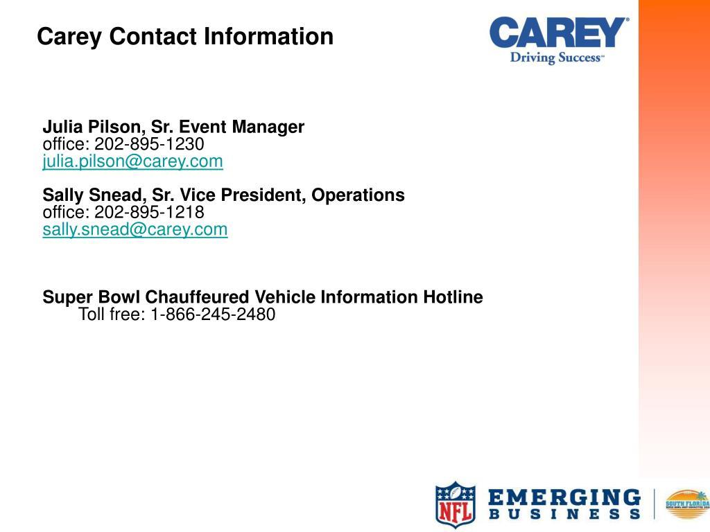 Carey Contact Information