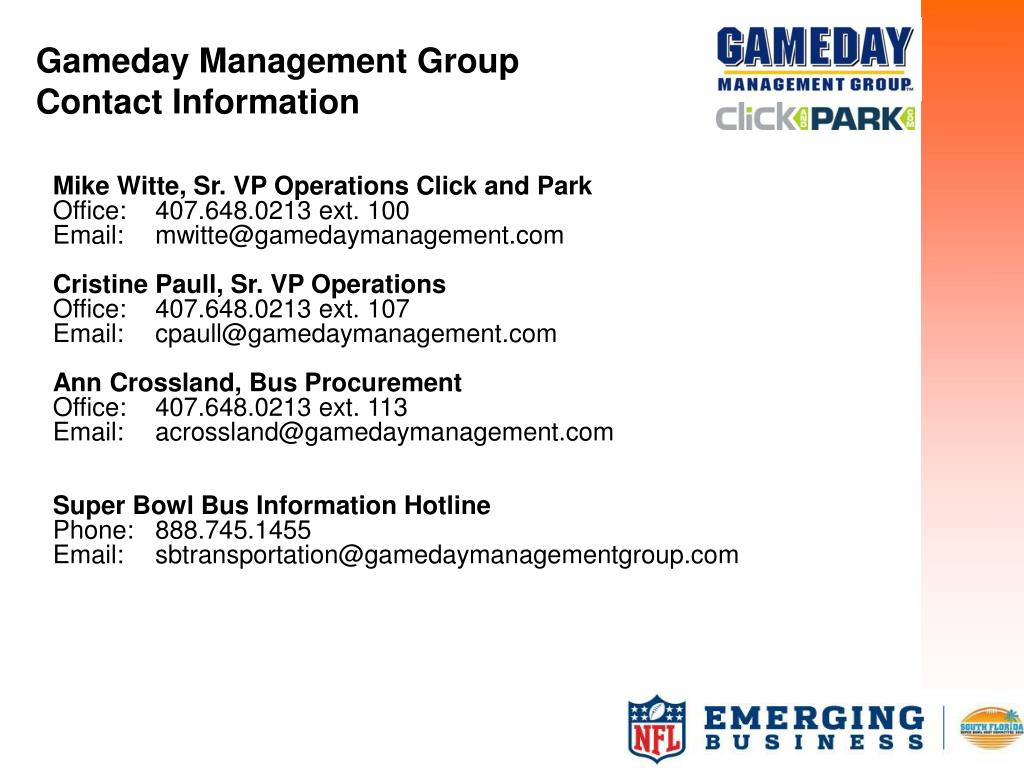 Gameday Management Group