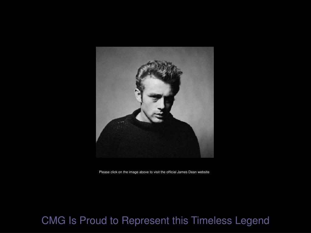 Please click on the image above to visit the official James Dean website