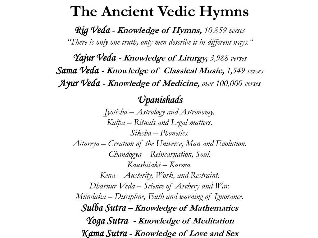 The Ancient Vedic Hymns