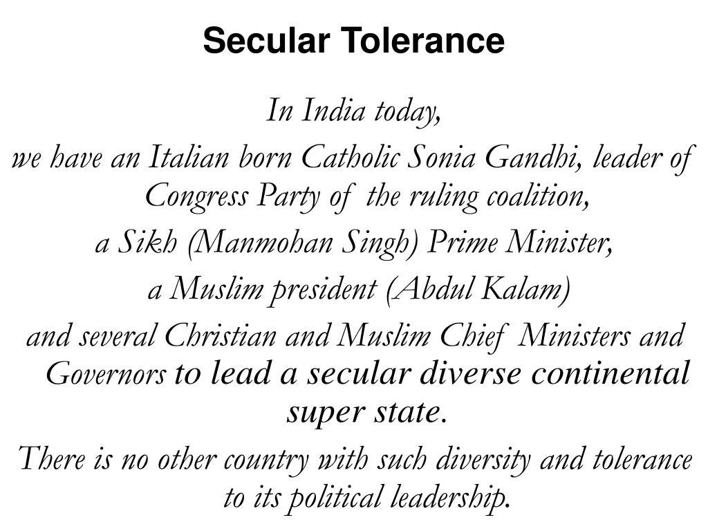 Secular Tolerance