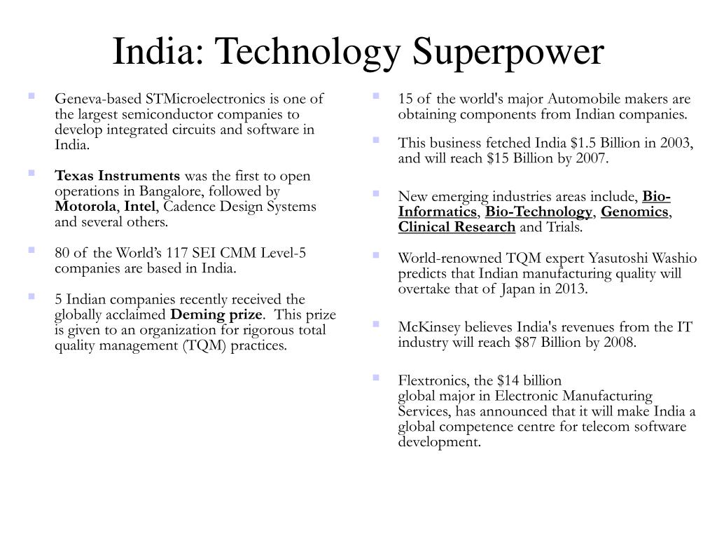 India: Technology Superpower