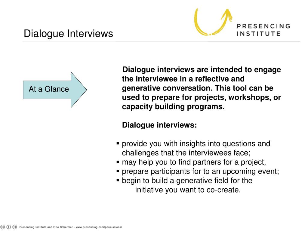 Dialogue Interviews