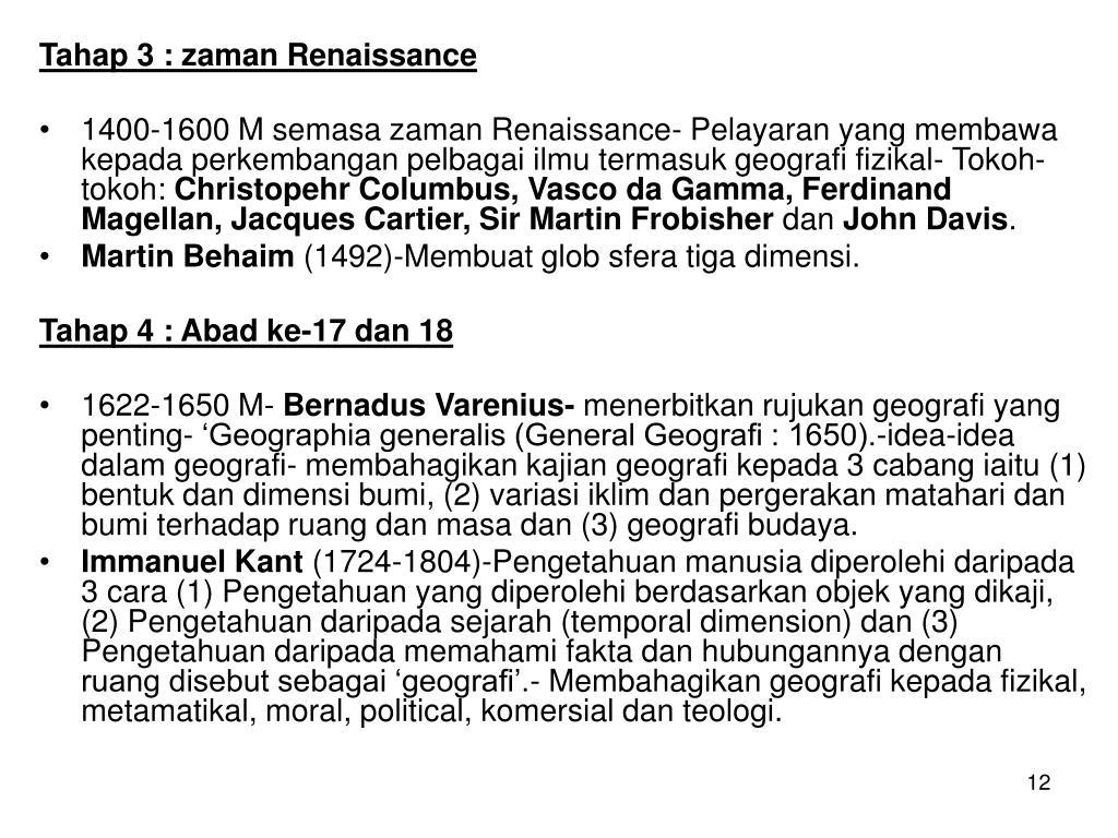 Tahap 3 : zaman Renaissance