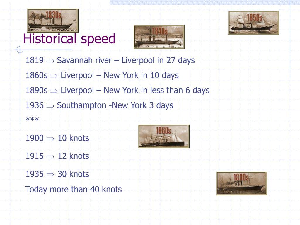 Historical speed