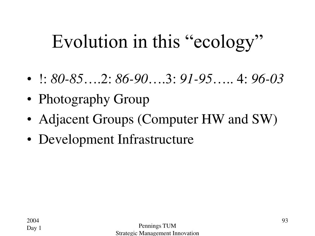 "Evolution in this ""ecology"""
