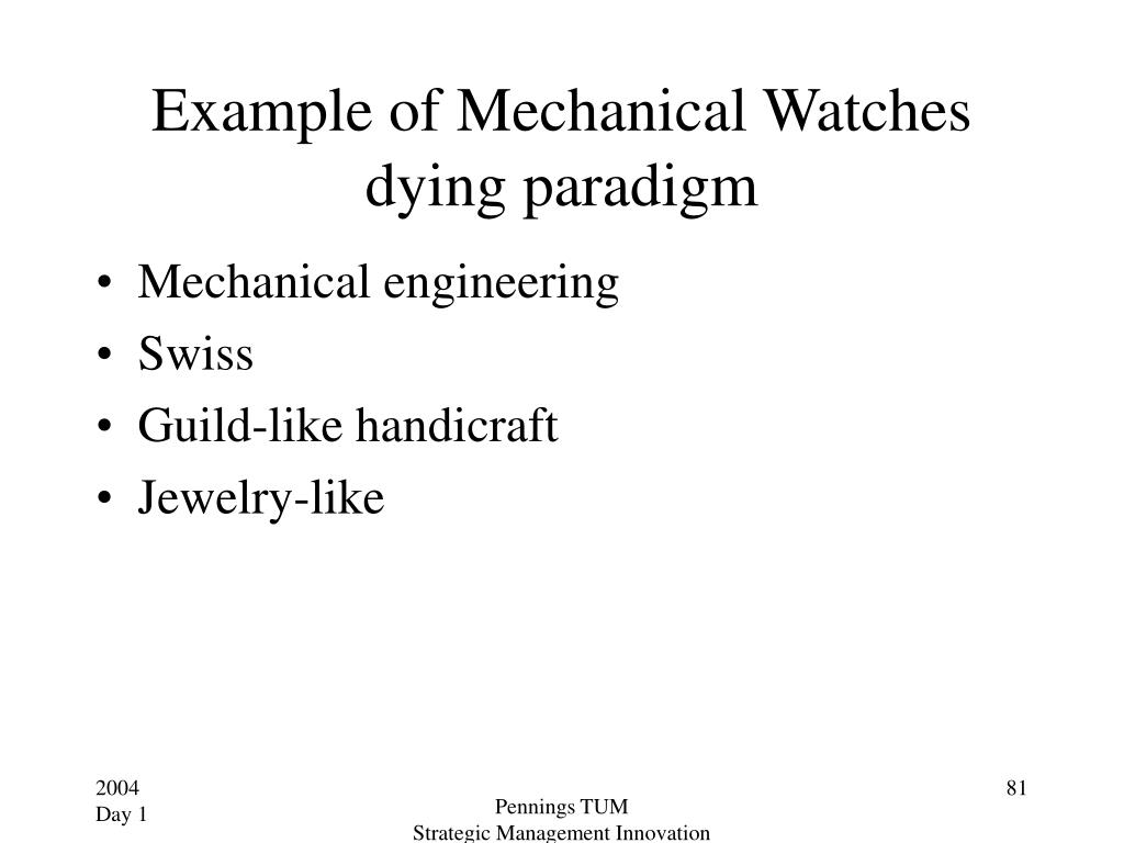Example of Mechanical Watches dying paradigm