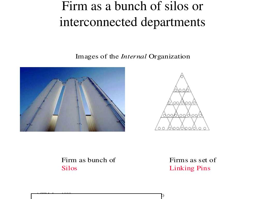 Firm as a bunch of silos or interconnected departments