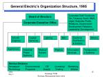 general electric s organization structure 1995