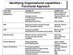 identifying organizational capabilities functional approach