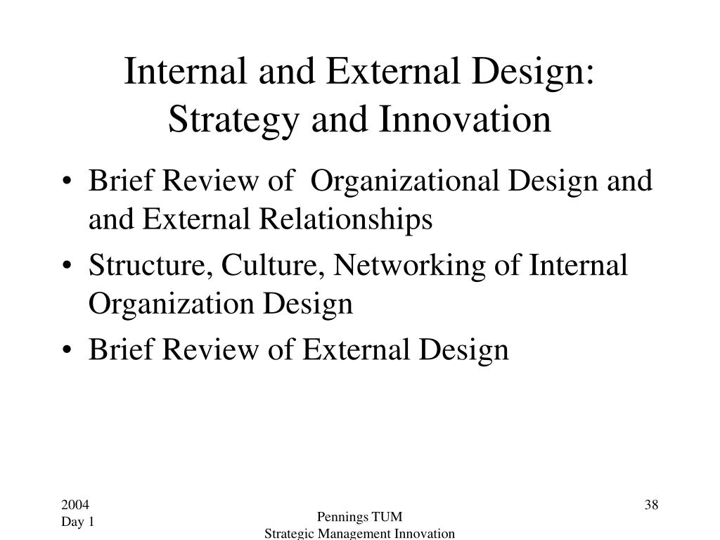 Internal and External Design: Strategy and Innovation