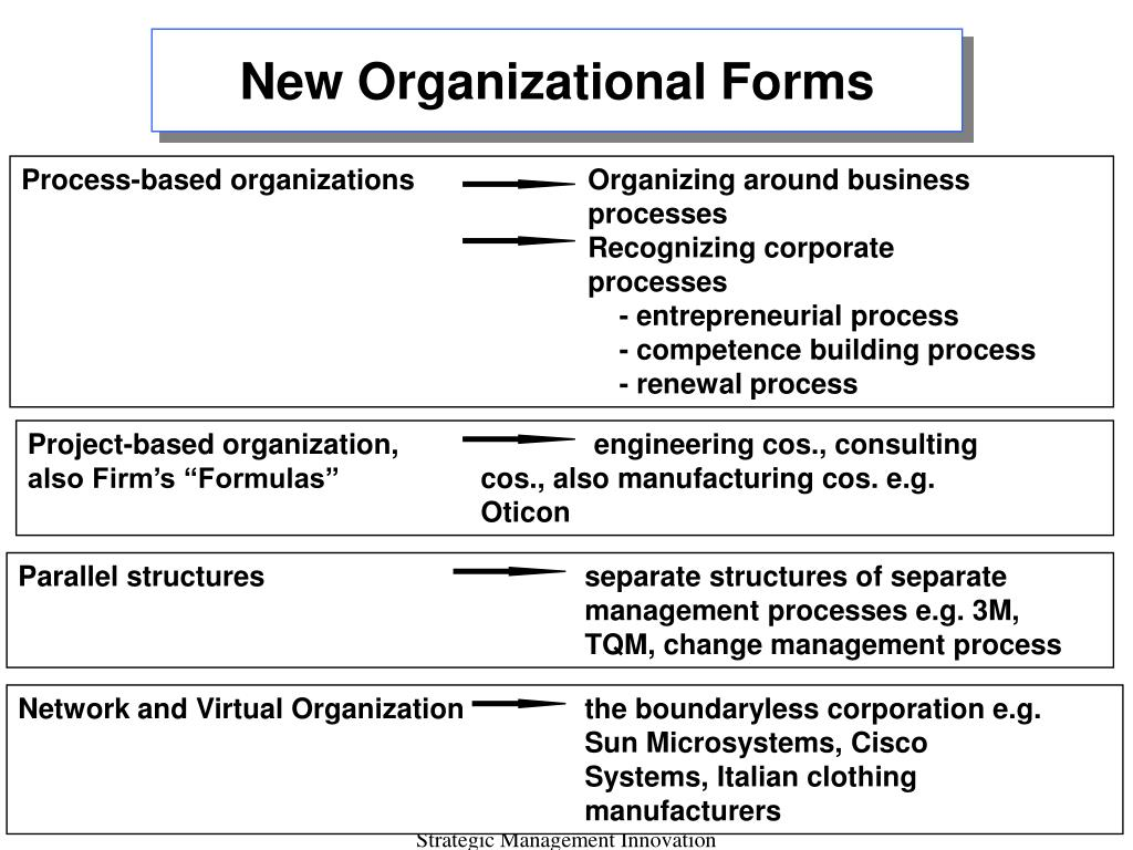 New Organizational Forms