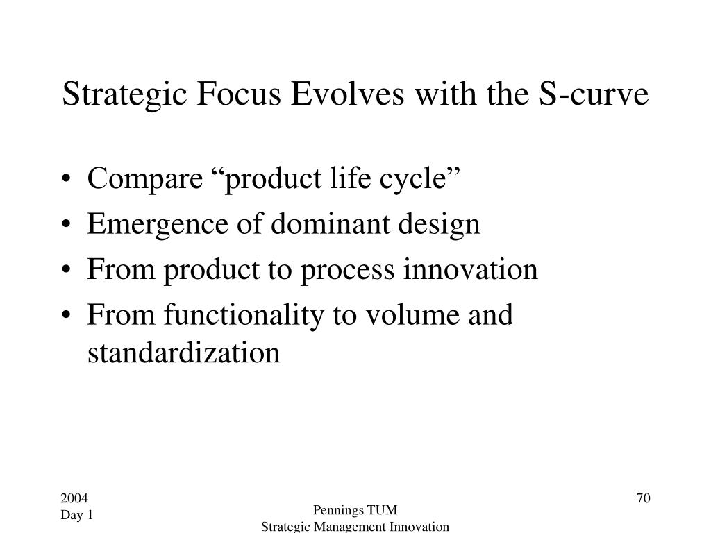 Strategic Focus Evolves with the S-curve