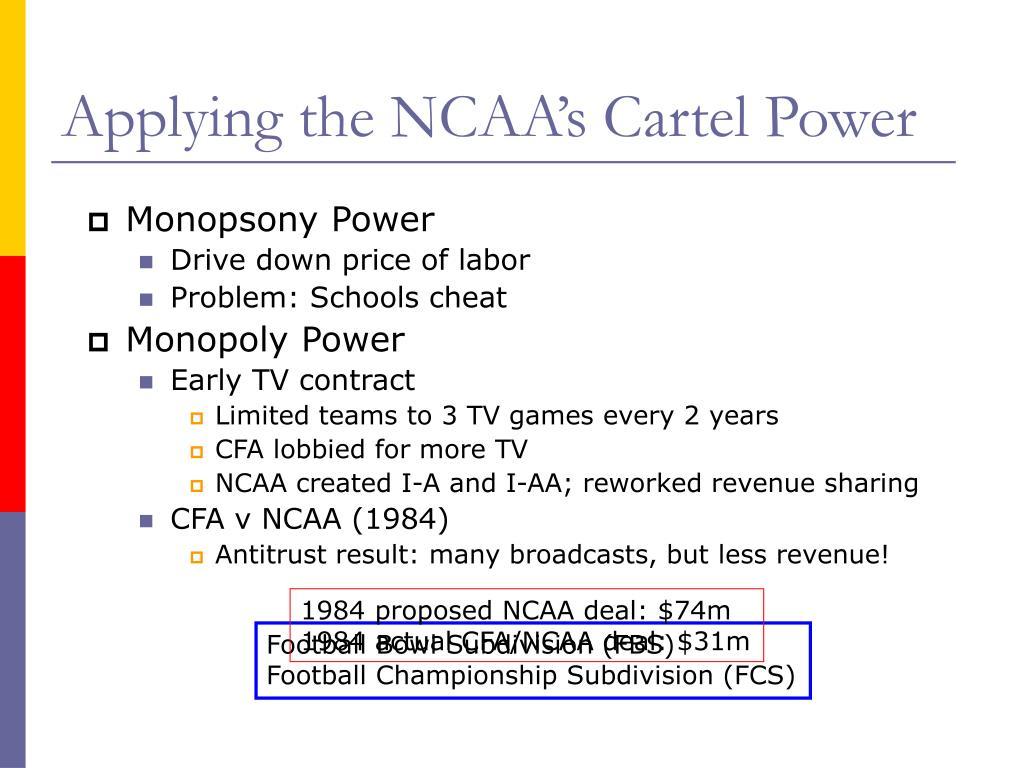 Applying the NCAA's Cartel Power