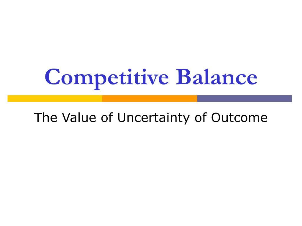 Competitive Balance