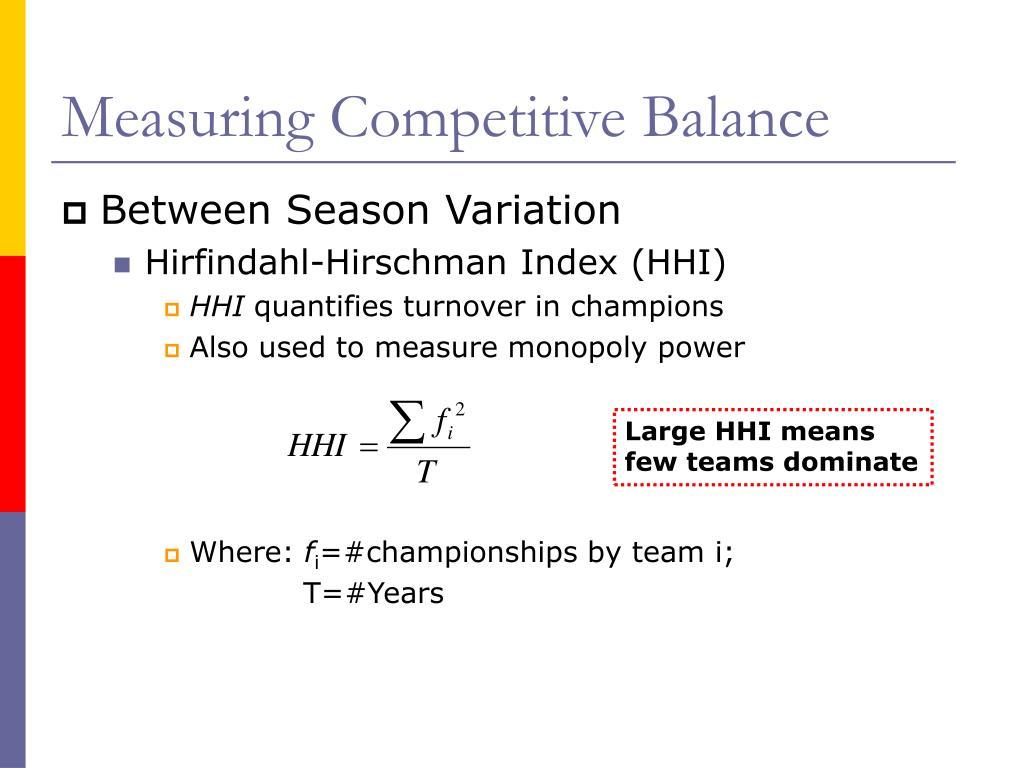 Measuring Competitive Balance