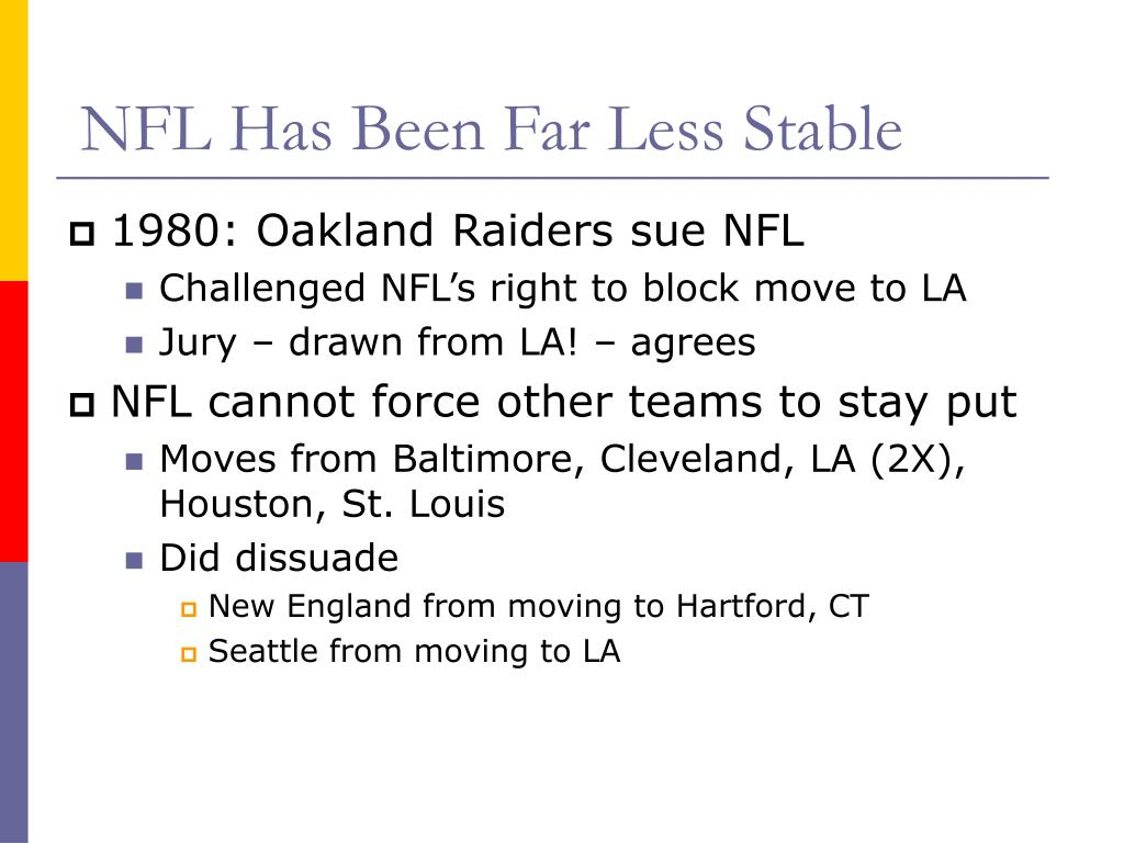 NFL Has Been Far Less Stable