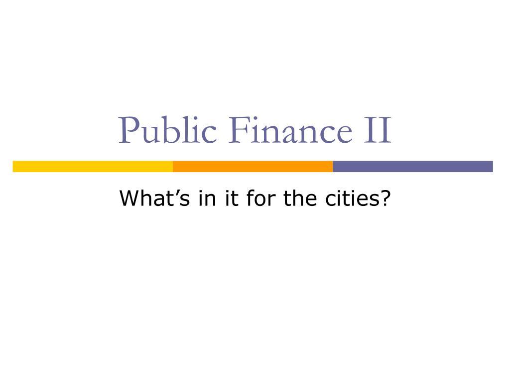 Public Finance II