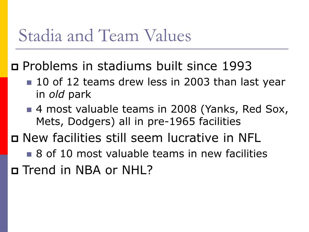Stadia and Team Values