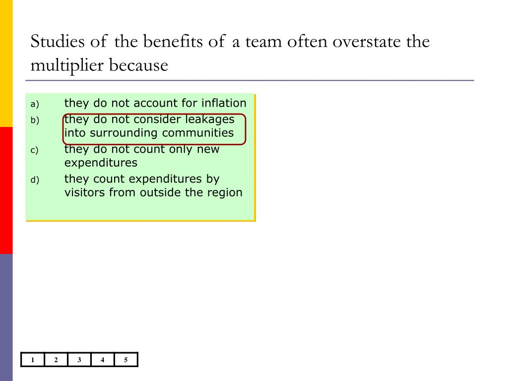 Studies of the benefits of a team often overstate the multiplier because