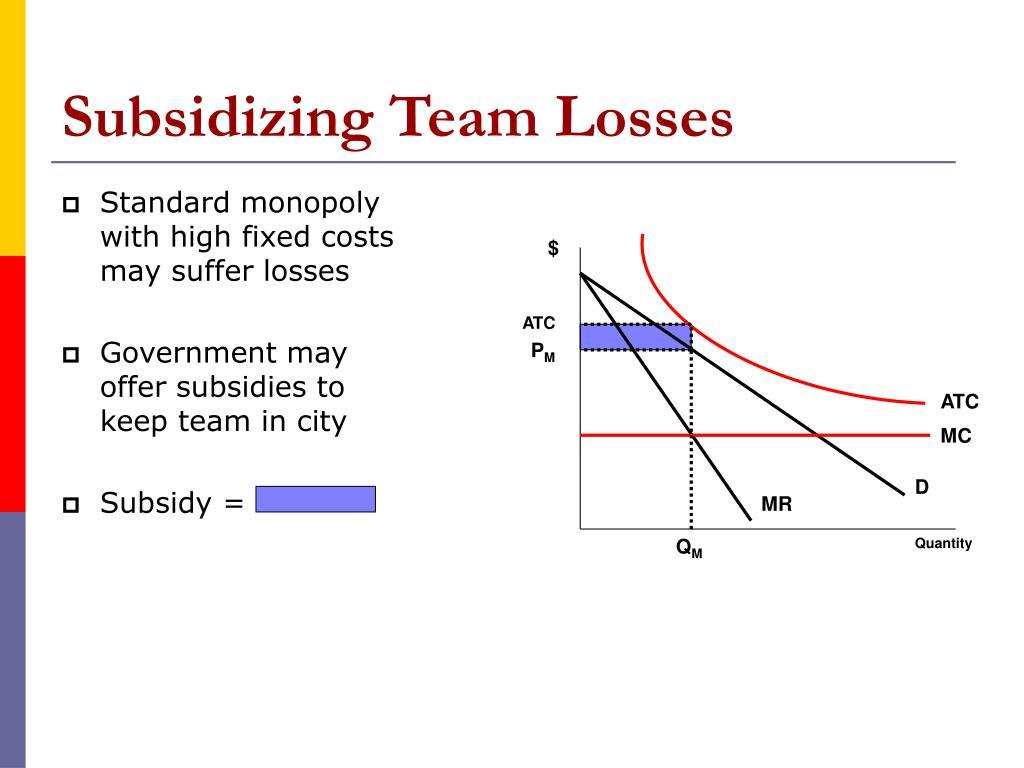Subsidizing Team Losses