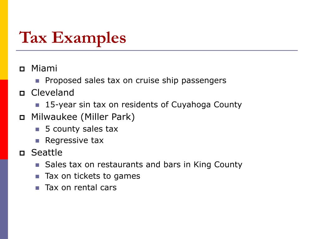 Tax Examples
