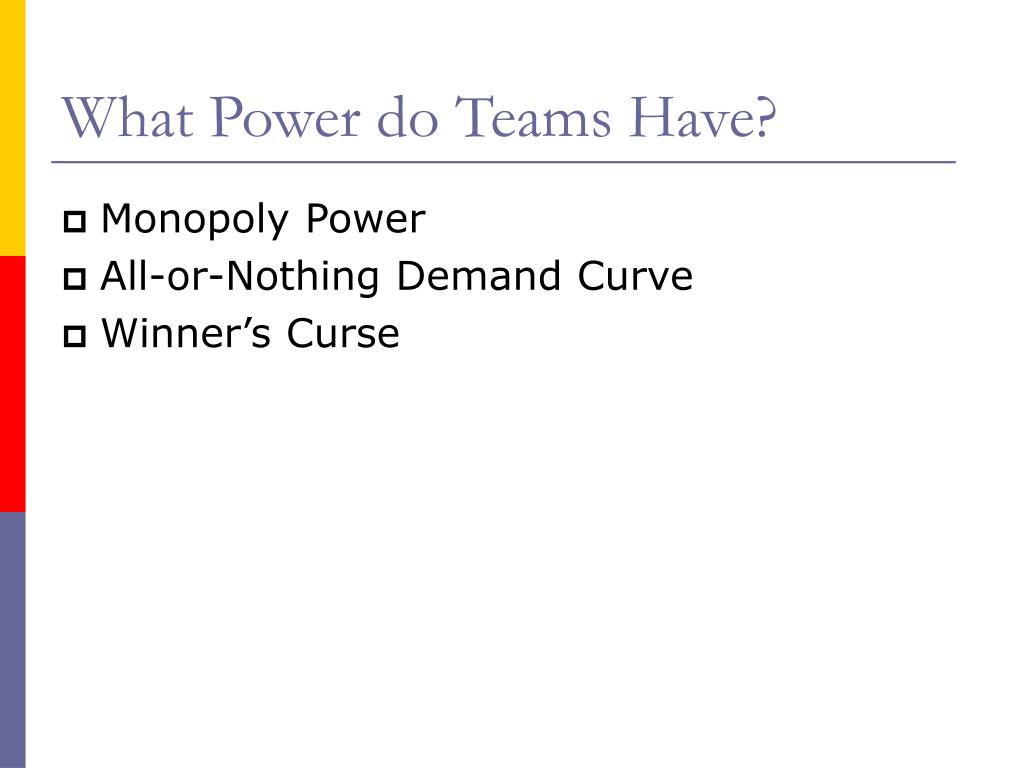 What Power do Teams Have?