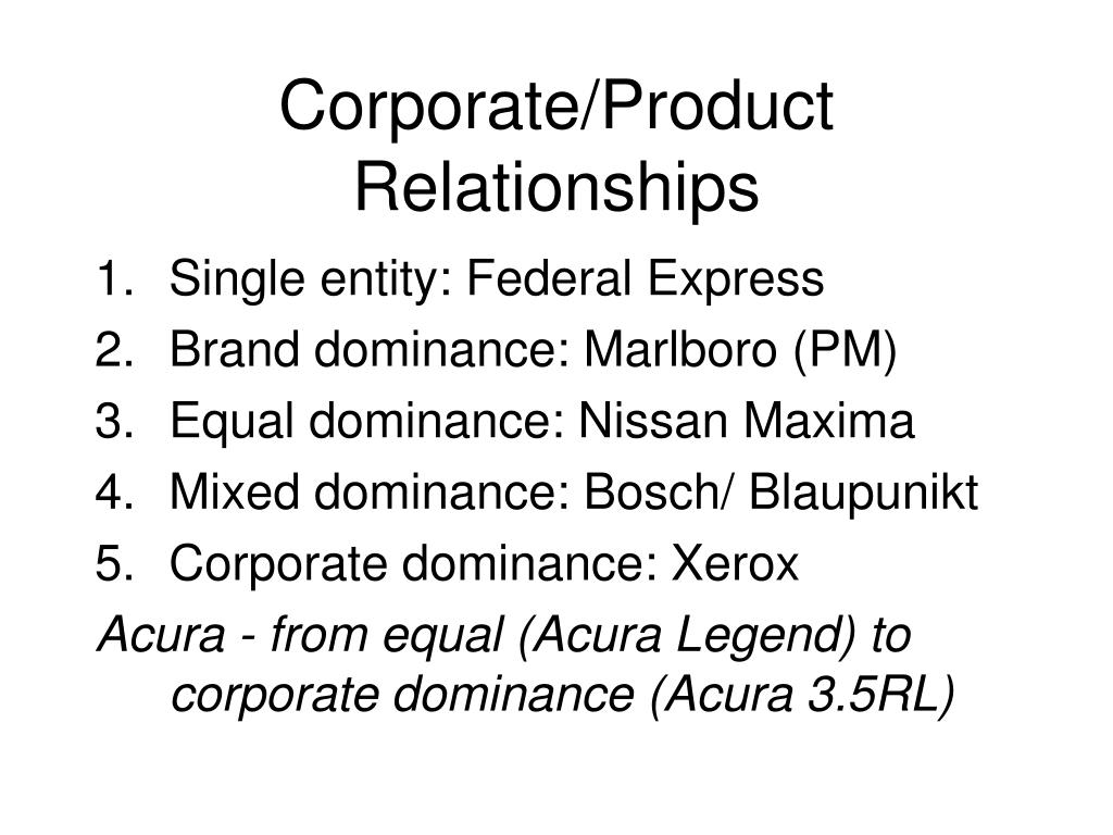 Corporate/Product