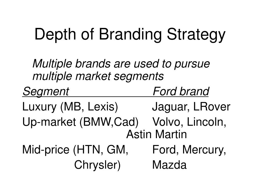 Depth of Branding Strategy
