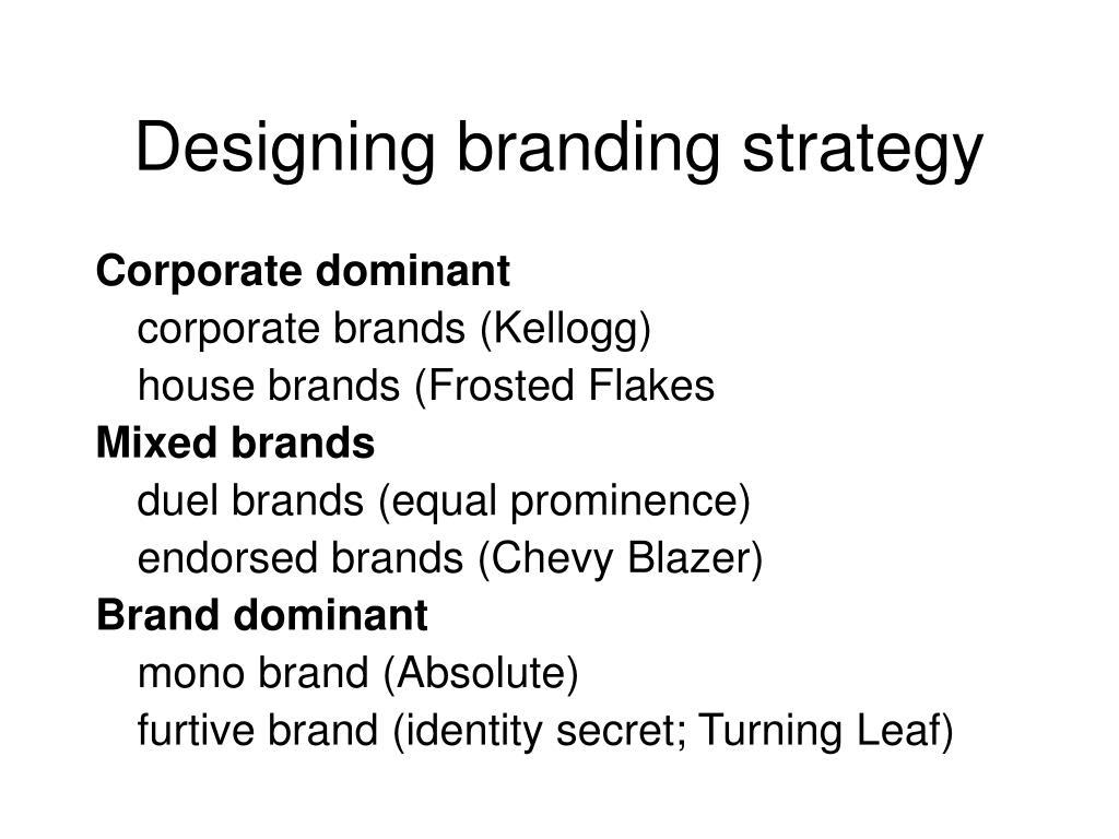 Designing branding strategy