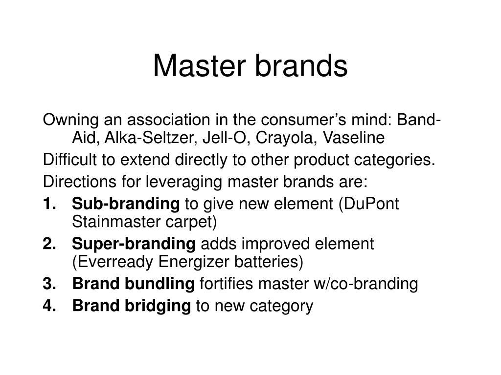 Master brands