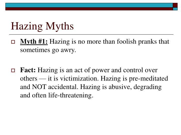 Hazing Myths