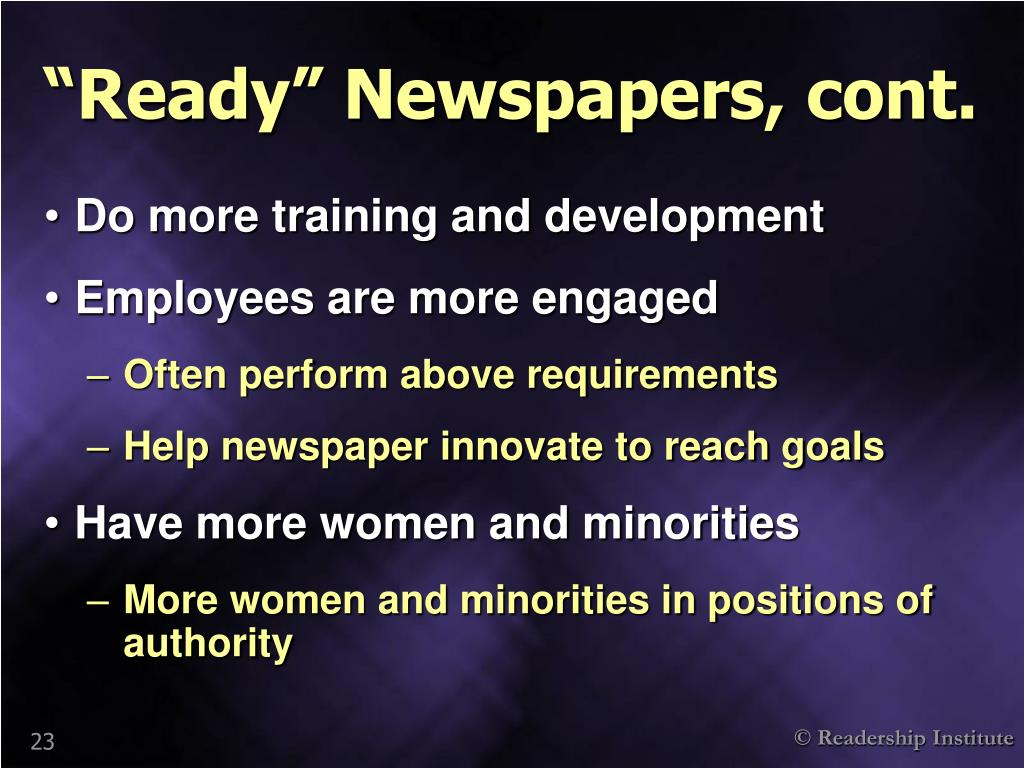 """Ready"" Newspapers, cont."