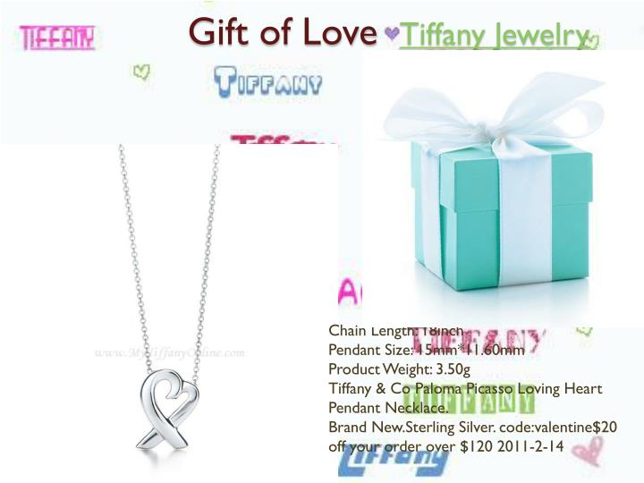 Gift of love tiffany jewelry2