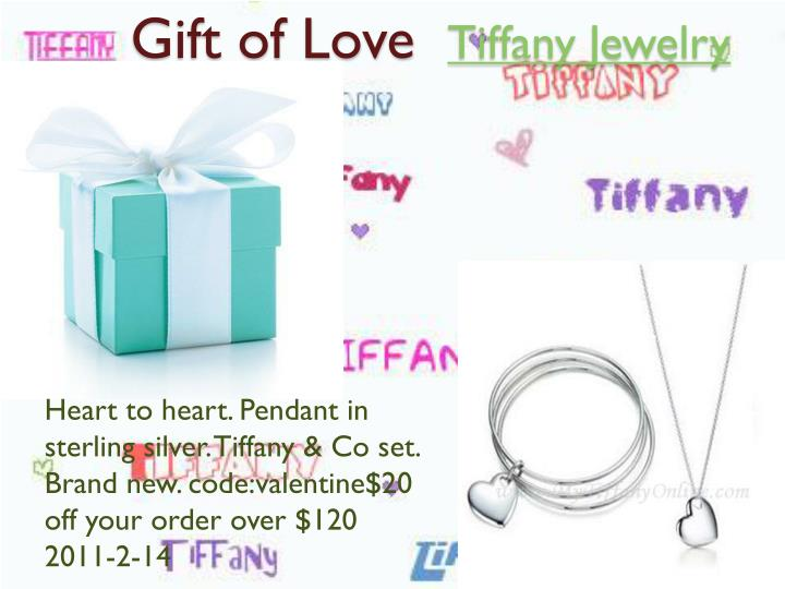Gift of love tiffany jewelry3