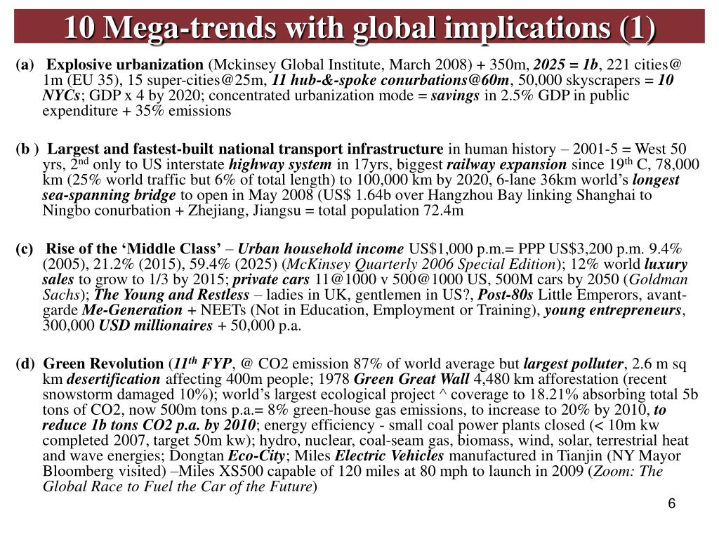 10 Mega-trends with global implications (1)