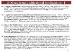 10 mega trends with global implications 1