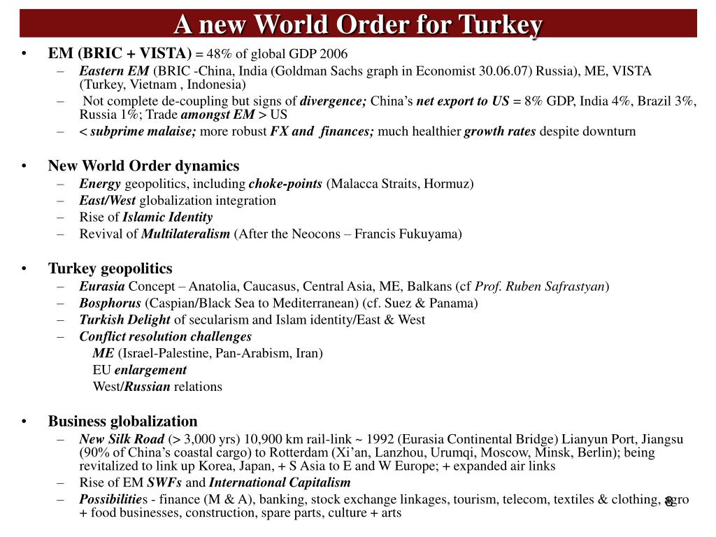 A new World Order for Turkey